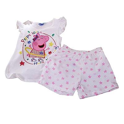 粉紅豬小妹純棉套裝 白 k50324 魔法Baby