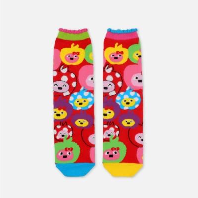 WHY AND 1/2 蘋果普普熊長筒襪