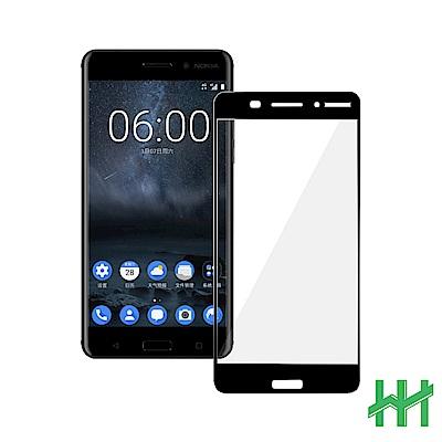 鋼化玻璃保護貼系列 Nokia 6 (5.5吋)(全滿版黑)