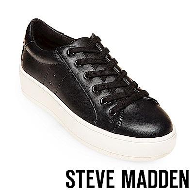 STEVE MADDEN-BERTIE 厚底綁帶休閒鞋-黑色