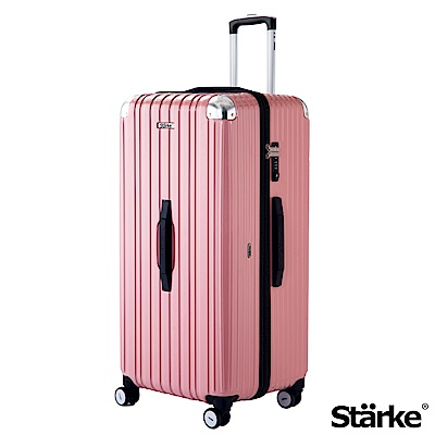 Starke LUXURY 32吋PC耐撞TSA海關鎖拉鏈行李箱 -玫瑰粉