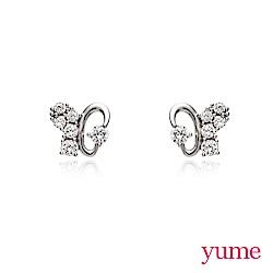 YUME - K金蝴蝶晶鑽耳環
