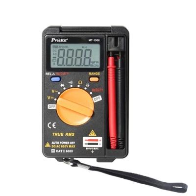 台灣製造寶工ProsKit口袋型真有效值電表 攜帶型電錶三用電表三用電錶迷你電表MT-1506