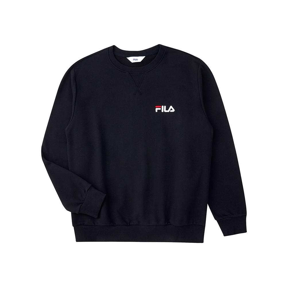 FILA 長袖圓領T恤-黑色 1TEU-5509-BK