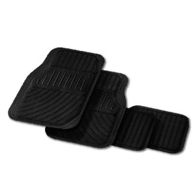 車用可裁通用型踏墊-四片式-黑色