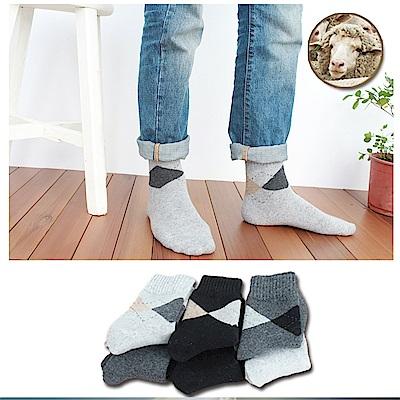 Incare男款加厚羊毛透氣舒適男襪(4雙入)