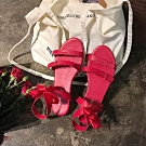KEITH-WILL時尚鞋館 特惠款幸福甜氛平底涼鞋 紅