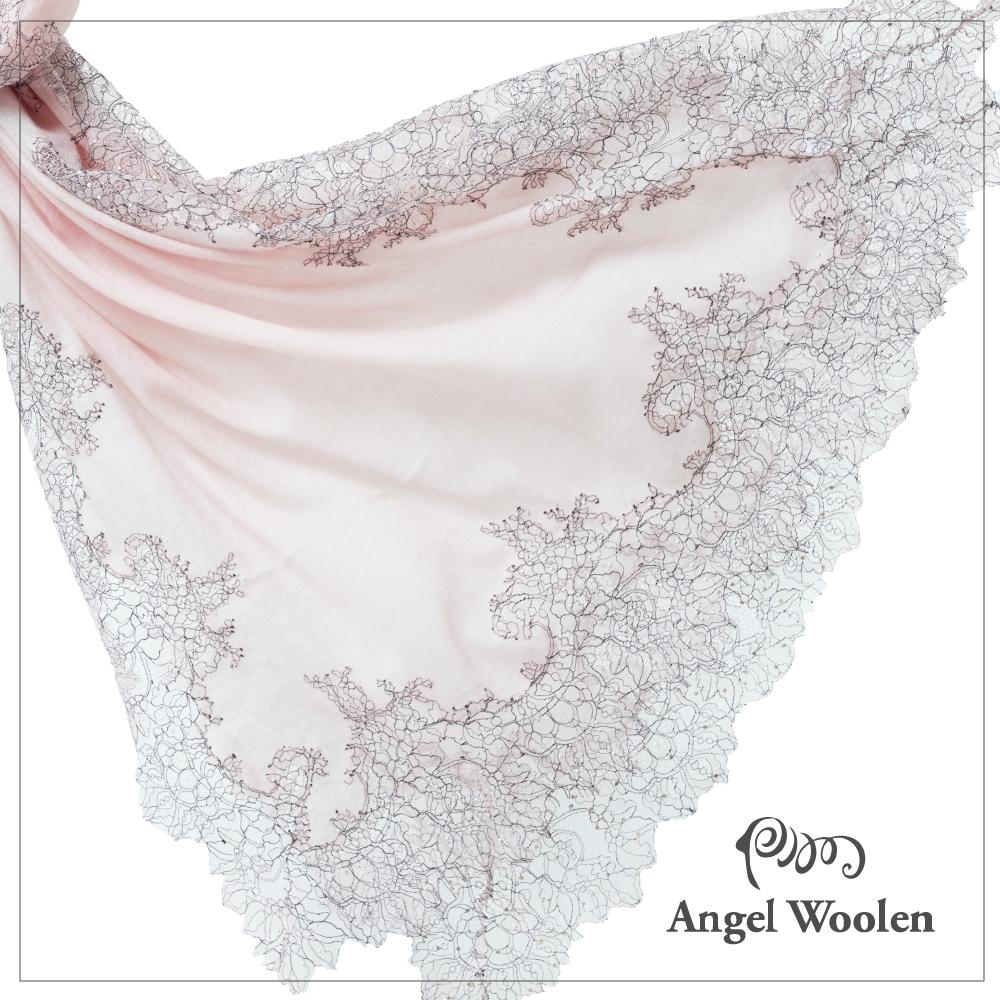 【ANGEL WOOLEN】Hi Angel蕾絲印度手工披肩(共三色)