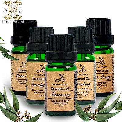 ThaiScent泰香  100 %純天然放鬆紓壓精油 5 入組( 10 ml/入)