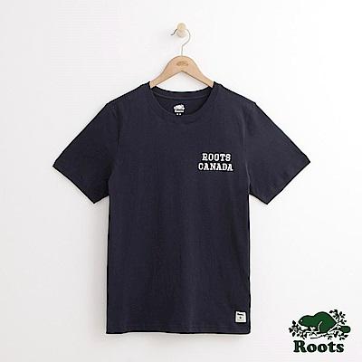 Roots 男裝-三角旗幟短袖T恤-藍色
