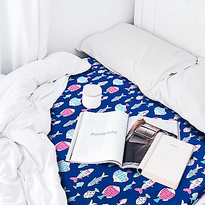 晴天媽咪 可拆洗舒柔雙布雙人三折床墊  5x6尺 2入-兩色可選