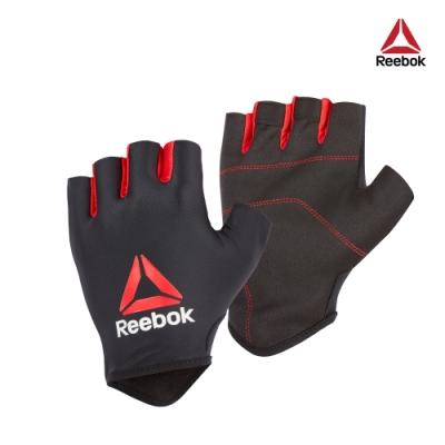Reebok 初階透氣半指手套(黑/紅)-共三尺寸