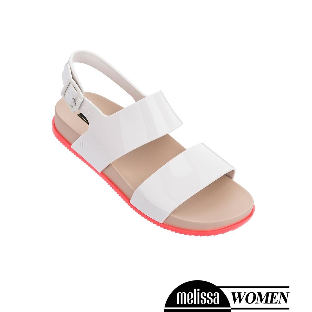 Melissa 經典撞色厚底涼鞋-白