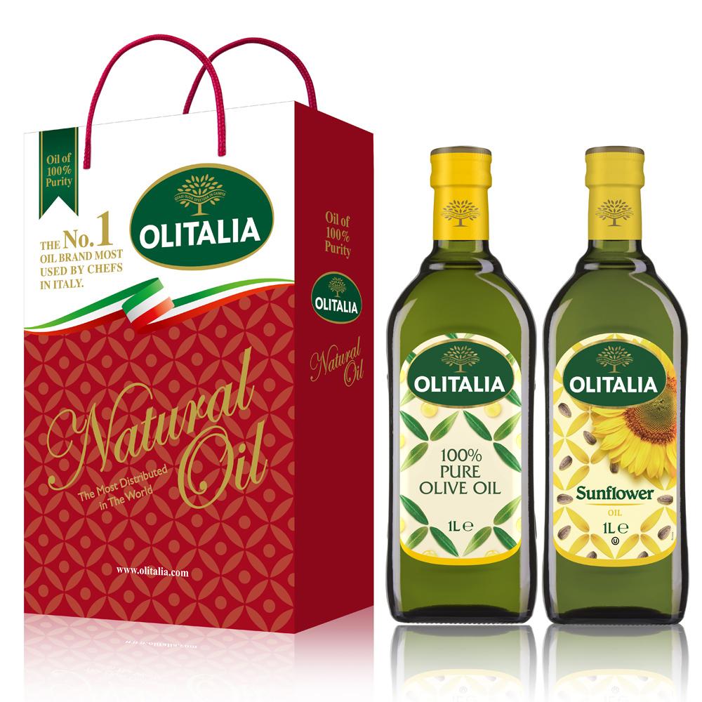 Olitalia奧利塔純橄欖油+葵花油禮盒組(1000mlx2瓶)