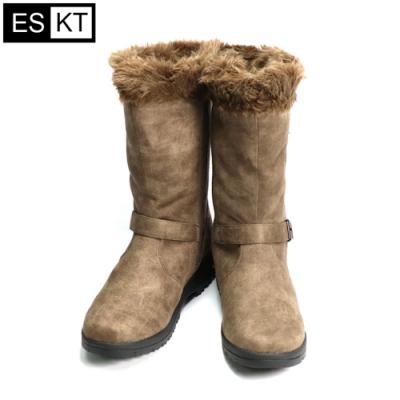 ESKT 女中筒雪鞋SN225【淺咖啡色】