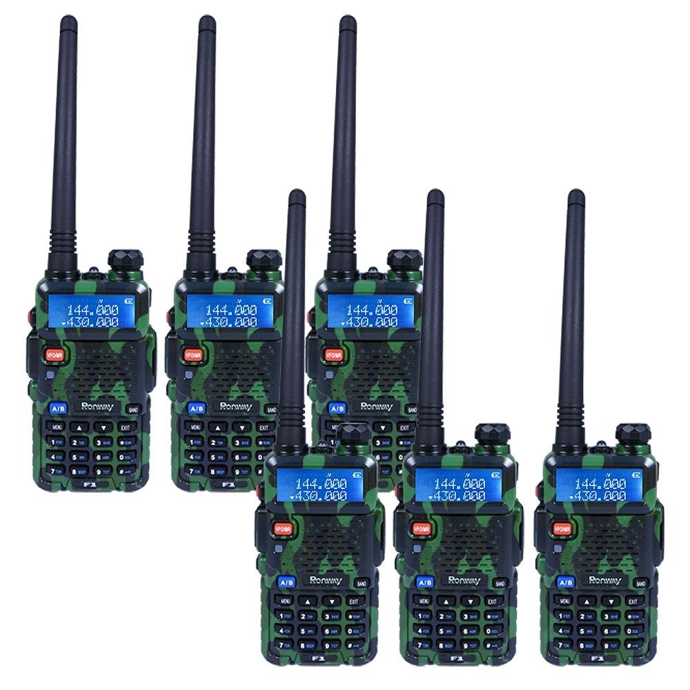 【隆威】Ronway F2 黑幕版 VHF/UHF雙頻無線電對講機(6入組)