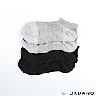 GIORDANO 抗菌消臭運動踝襪(兩雙入)-01 黑/灰