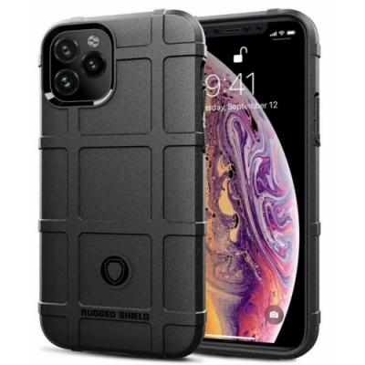 PKG For:Apple iPhone12 Pro Max (6.7吋)抗震防摔-高規防護盾-黑