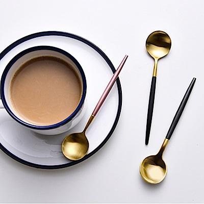 E-dot 304歐式不鏽鋼鈦金咖啡勺(二色任選)