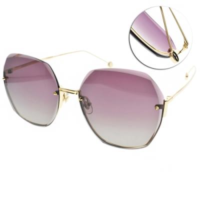 MOLSION 太陽眼鏡 Angelababy代言 /金-漸層紫灰鏡片#MS7082 A60