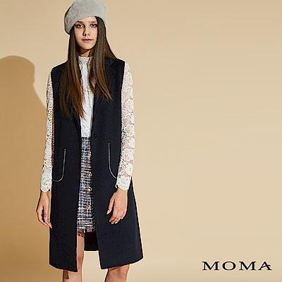 MOMA 雙面毛料徽章背心_2色
