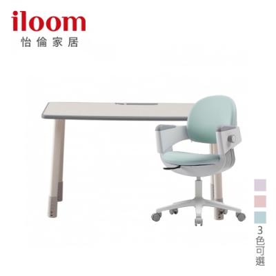 【iloom 怡倫家居】Linki Plus 1200型基本型書桌+Ringoi一秒收心固定型成長椅(三色可選)