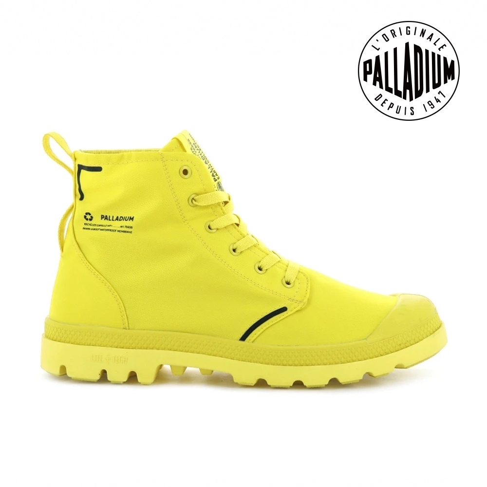 PALLADIUM PAMPA LITE+ RCYCL WP+再生纖維輕量防水靴-中性-黃