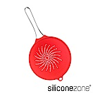 Siliconezone 24cm施理康耐熱矽膠食物瀝水網杓-亮紅色(大)