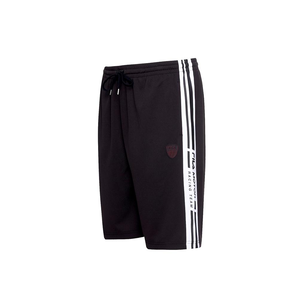 FILA 男吸濕排汗短褲-黑色 1SHU-1486-BK