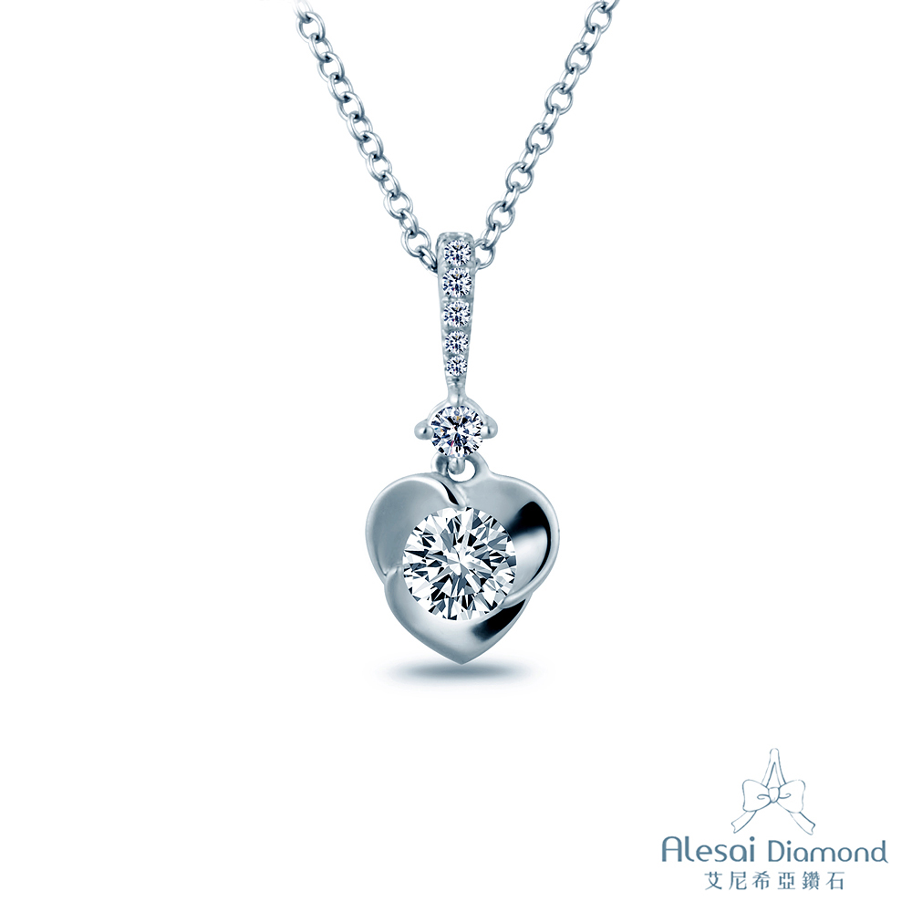 Alesai 艾尼希亞鑽石 30分 14K 鑽石項鍊 愛心項鍊 (項鍊墜子)