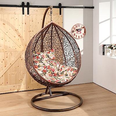 邏爵LOGIS-小黑毬果休閒吊籃椅 吊椅 鳥巢椅