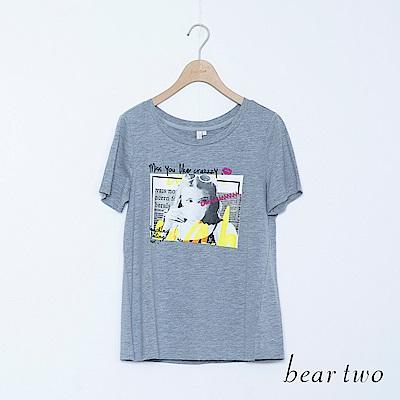 beartwo 帥氣女孩印圖上衣(三色)