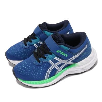 Asics 慢跑鞋 Pre Excite 7 PS 童鞋 亞瑟士 魔鬼氈 郊遊 踏青 中童 藍 白 1014A115401