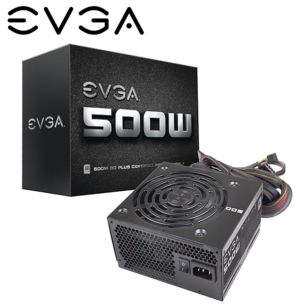 EVGA 艾維克 W1 500W 電源供應器 入門首選 三年保固