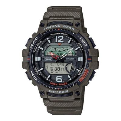 CASIO卡西歐 釣魚活動概念設計手錶(WSC-1250H-3A)