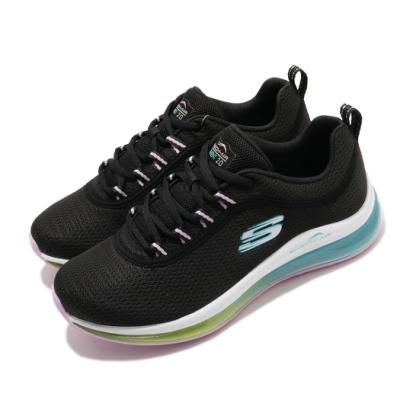 Skechers 休閒鞋 Skech-Air Element 女鞋 全腳掌氣墊 避震 緩衝 支撐 泡棉鞋墊 黑 彩 149402BKMT