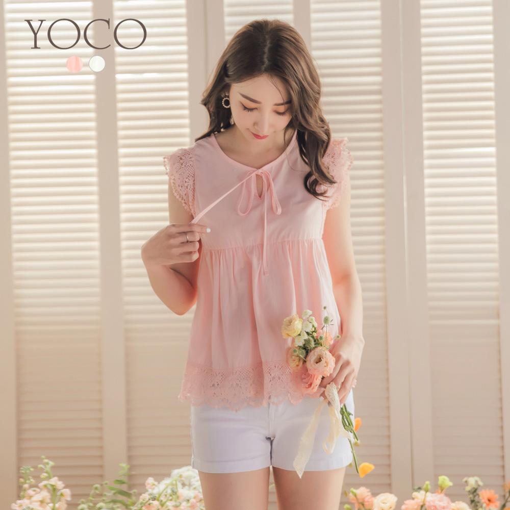 東京著衣-YOCO 甜美可愛娃娃裝無袖上衣-S.M.L-(共二色)