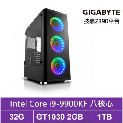 技嘉Z390平台[東海刺客]i9八核GT1030獨顯電玩機