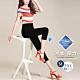 2F韓衣-升級版完美比例涼感彈力顯瘦七分褲-黑-(M-3XL) product thumbnail 1
