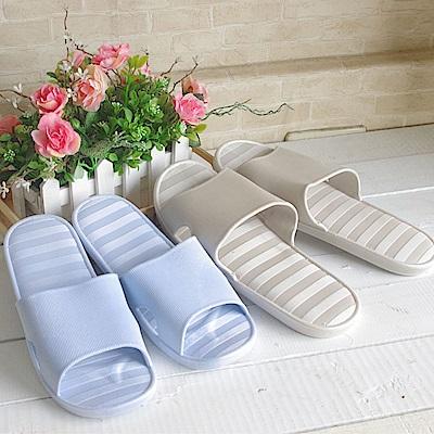 PVC防水、防滑室內/浴廁拖鞋二雙