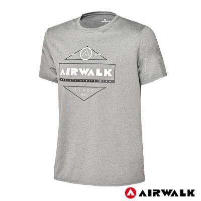 【AIRWALK】男款印花吸排短T-共兩色