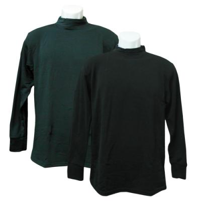 男高領刷毛衣-黑色/深灰色-4件入