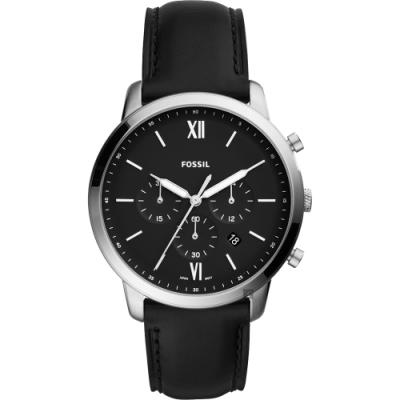 FOSSIL NEUTRA 時尚流行計時手錶-黑/44mm FS5452