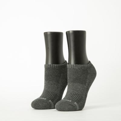Footer除臭襪-單色運動逆氣流氣墊船短襪-六雙入(深灰*2+紫*2+黑*2)