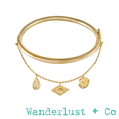 Wanderlust+Co 星系手環 - 金色