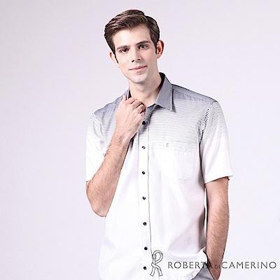 ROBERTA諾貝達 進口素材 台灣製 休閒極品 迷人短袖襯衫 白色