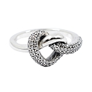 Pandora 潘朵拉 立體扭結鑲鋯愛心 925純銀戒指