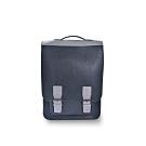 M.R.K.T. 素皮革工業風設計款後背包-198970C CHARCOAL(鐵灰色)