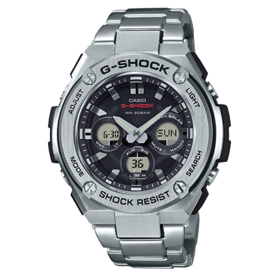 G-SHOCK創新突破分層防護完美悍將休閒錶(GST-S310D-1A)-銀49.3mm