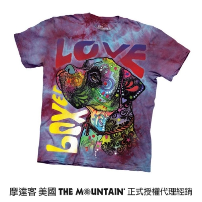 摩達客(預購)美國進口The Mountain 彩繪愛拳師狗 純棉環保短袖T恤